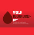 design background blood donor day collection vector image vector image