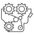 enginemotormachine line icon sign vector image