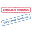 english cuisine textile stamps vector image vector image