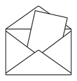 Envelope icon outline style vector image vector image