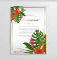 exotic tropical flower background with vector image vector image