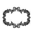 filigree floral frame ornamental decoration in vector image vector image