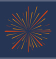 firework festive bursting celebration explosion vector image vector image
