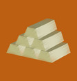 flat shading style icon gold bars vector image vector image