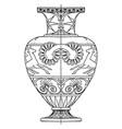 greek hydria is painted in black or reddish brown vector image vector image