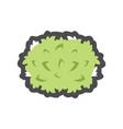 green bush plants icon cartoon vector image