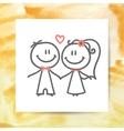 groom and bride vector image vector image