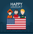 happy labor day card vector image vector image
