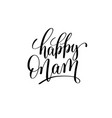 happy onam hand lettering inscription vector image vector image
