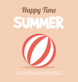 holiday summer and summer camp vector image