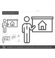 house presentation line icon vector image