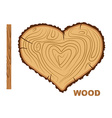 I love wood Cutting tree as a symbol of heart vector image vector image