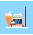 Ice Cream Shop Front vector image