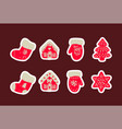 icon set cute christmas things vector image