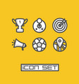 icons set game vector image
