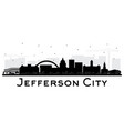 jefferson city missouri skyline silhouette vector image vector image