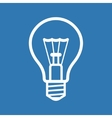 Light Bulb Icon on Blue Background vector image vector image