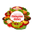 malaysian cuisine dishes banner vector image vector image
