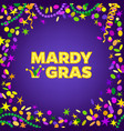 mardi gras carnival background with colorfull vector image vector image