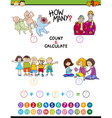mathematical game for preschoolers vector image vector image