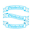 oktoberfest ribbon banners in bavarian colors vector image