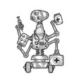 physician medical doctor robot sketch vector image