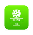 pillow icon green vector image