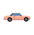 pink retro coupe car isolated vector image vector image