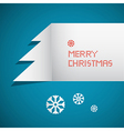 Retro Abstract Merry Christmas Background vector image vector image