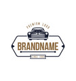Retro car logo template design vintage logo style