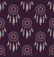 seamless pattern with dream catchers vector image vector image