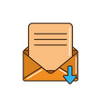 sending mail letter message line and fill vector image
