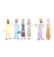 set arabic business people vector image vector image