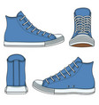 set of with blue sneakers vector image