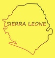 sierra leone map vector image vector image