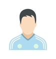 Soccer player flat icon vector image vector image