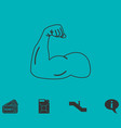 strong icon flat vector image