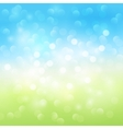 Summer bokeh light background vector image
