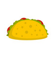 tacos icon flat style vector image