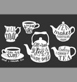 tea quotes and sayings typography set vector image