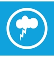 Thunderstorm sign icon vector image vector image