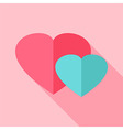 Two hearts love sign vector image vector image