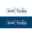 typography of the usa south carolina states vector image vector image