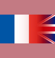 uk and france flags in gradient superimposition vector image vector image