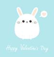 white bunny rabbit icon happy valentines day vector image vector image