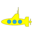 Yellow submarine icon vector image vector image