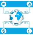 Communication concept infographic vector image