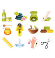 beauty and spa relax icons vector image