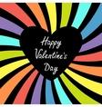 Heart with rainbow colorful sunburst Happy vector image
