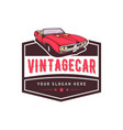 a template classic or vintage or retro car vector image vector image